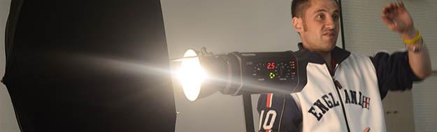 Studio Light Demo (pic by Michael Hilton)