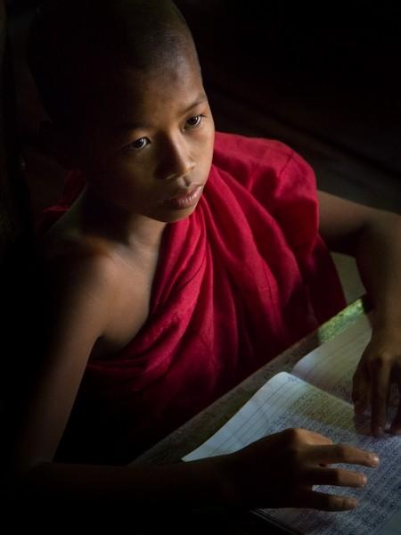 Les Stringer - Young monk at his desk